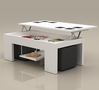 Mesa de centro elevable color ceniza mesa comedor car - Mesas auxiliares modernas ...